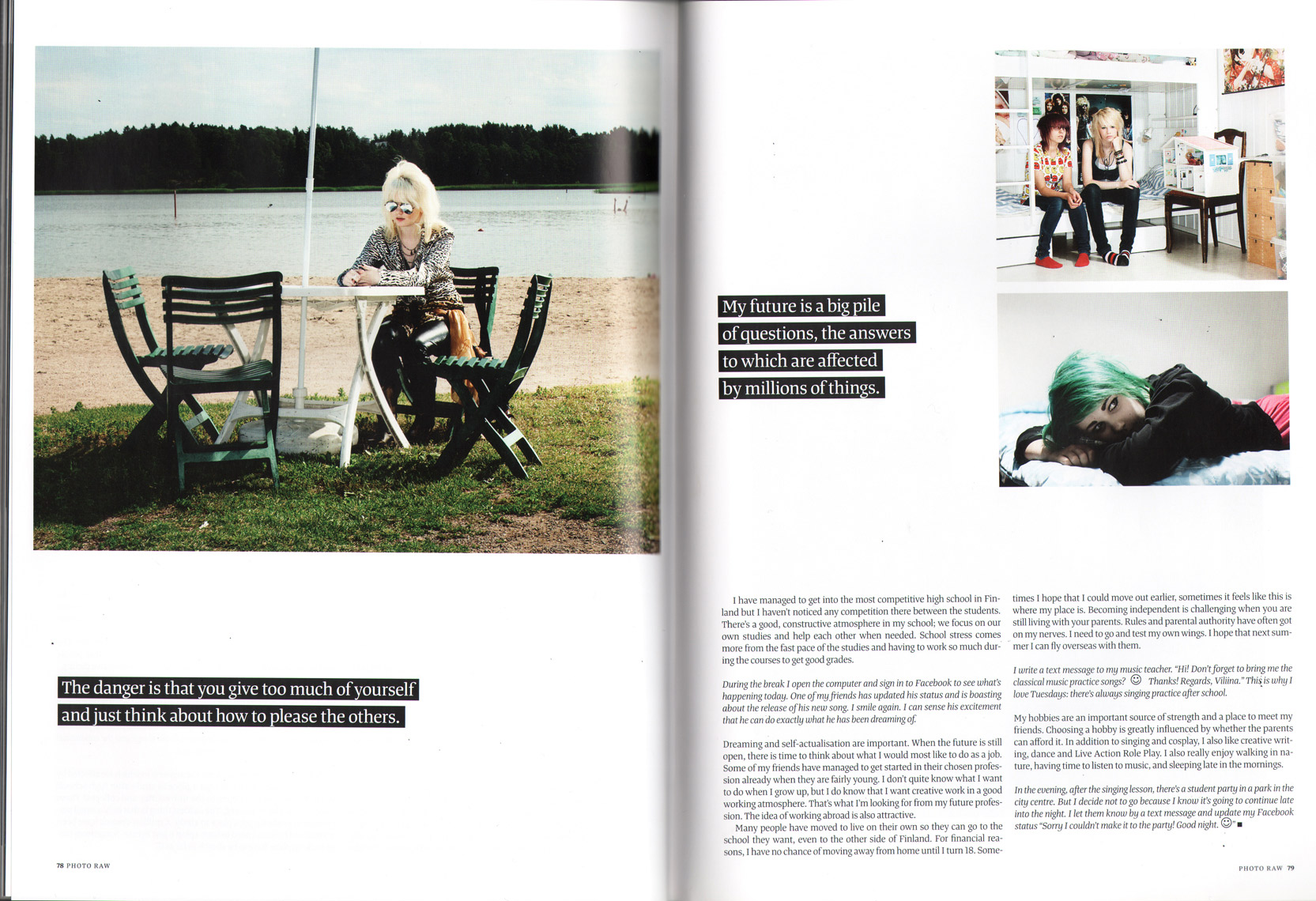 Aki-Pekka Sinikoski: Finnish Teens. Cover story in Photo RAW magazine.